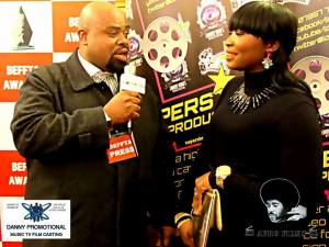 DANNY ERSKINE INTERVIEWS NOLLYWOOD ACTRESS VICTORIA ABRAHAM AT THE BEFFTA AWARDS 2014 (AFRO-FILMS ON THE RED CARPET)